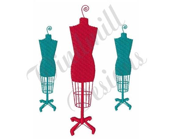 dress form mannequins machine embroidery design rh etsy com dress form clip art free dress form clip art free