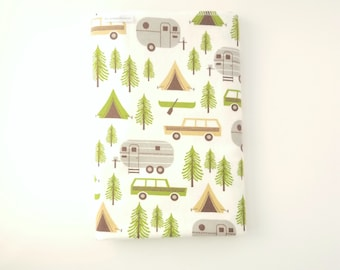 Camper Swaddle Blanket / Baby Shower Gift / Baby Boy Gift / Baby Girl Gift / Newborn Swaddle Blanket / Camping Receiving Blanket / Trailers
