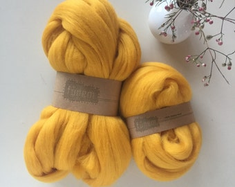 Merino Wool Roving 561 Yellow