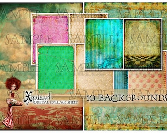 10 Backgrounds PNG - No.1 - Art Journaling