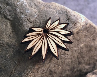 Tropical Leaf Wooden Pendant