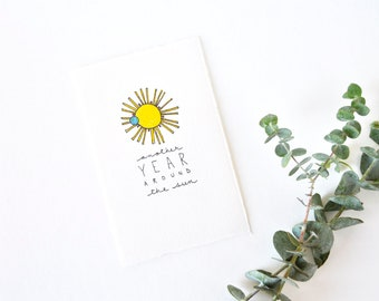 Simple Birthday Card - Another Year Around The Sun