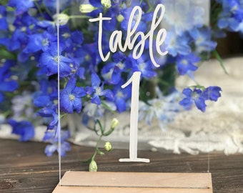 Rent These Acrylic Plexi Table Numbers! - Hawaii Calligraphy