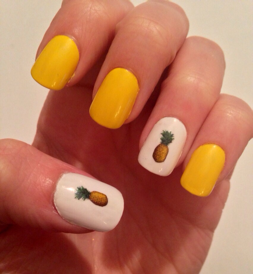 Pineapple nail decals zoom prinsesfo Image collections