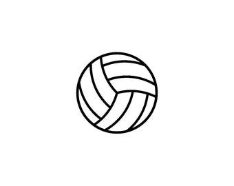 "Two 2x2"" Volleyball Vinyl Decals Pattern #2"