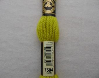Cotton canvas, DMC wool Colbert E_7584 486, absinthe Green