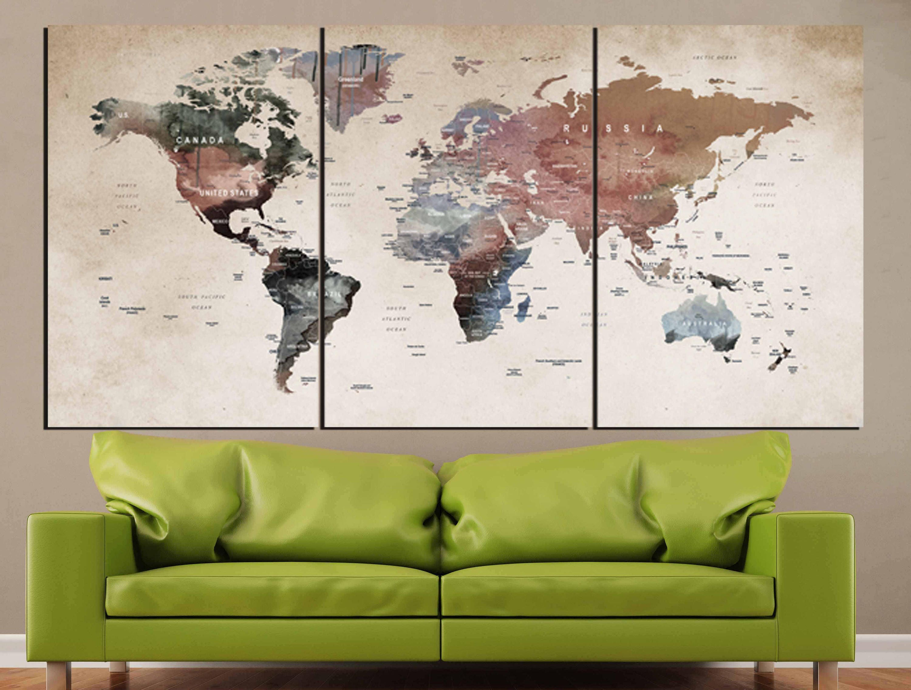 World map wall artworld map canvasworld map printlarge world map gallery photo gallery photo gallery photo gumiabroncs Choice Image