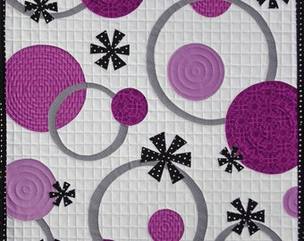 Circles and Rings Baby Quilt Pattern PDF