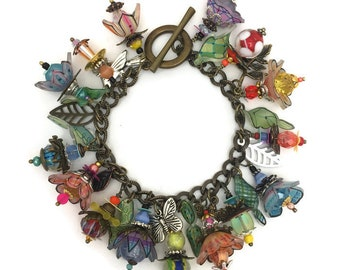julie haymakers' Shrinkets shrink plastic Wearing Wonderland  bracelet  online class and kit