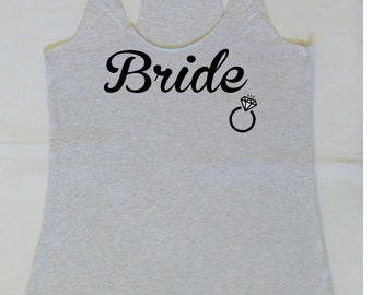 Eco Bride Tank Top. Bachelorette Party Tanks. Bride Shirt. Wedding Party Tanks. Maid of Honor Tank. S, M, L ,XL