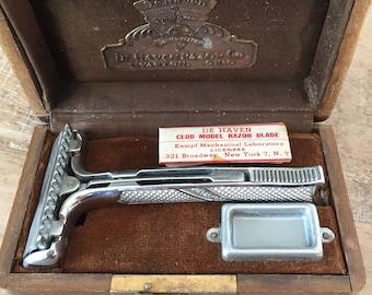1930's De Haven Club Model Razor Blade in original case box! U.S. Pat. 1.71821 9 | #MensRazor #VintageRazorBlades #Mensvintage #flashsale