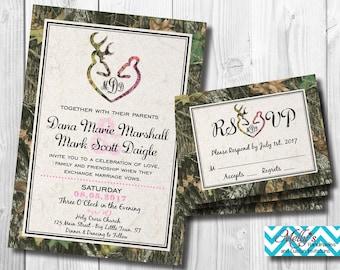 Camouflage Wedding Invitation & RSVP