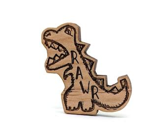 RAWR Dinosaur - Well Read Pin