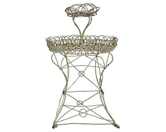 Antique French Wrought Iron Planter