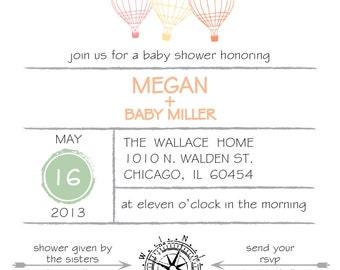 Adventure Themed Baby Shower Invitation