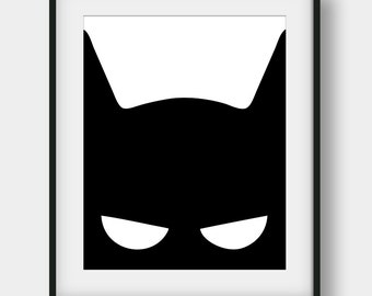 60% OFF Batman Print, Nursery Print, Black and White, Batman Poster, Kids Room Decor, Boys Room Decor, Batman Printable Art, Kids Gift