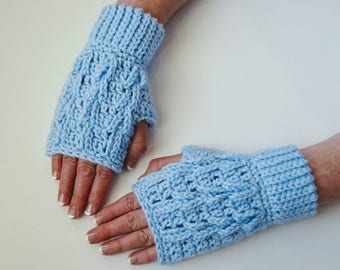 Fingerless Glove Crochet Pattern - Timeless Texture Fingerless Gloves Crochet Pattern #407 - Instant Download PDF