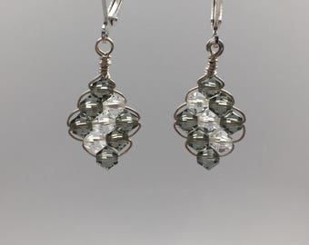 Crystal Wire Weave Earrings