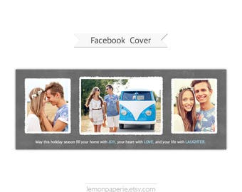 Facebook Timeline Cover, Photoshop Template - FT214 - INSTANT DOWNLOAD