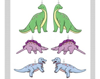 Dinosaurs......Shower Curtain Bling Charms/Ornaments...Set of 12