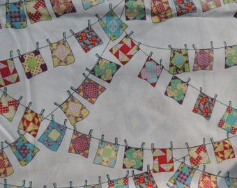 Fabric patch Windham Fabrics thread pegs