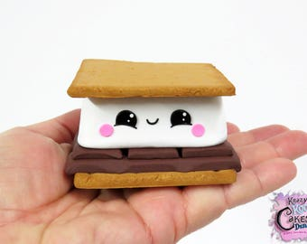 Kawaii S'more - Polymer Clay S'more - KEEPSAKE S'more Cake Topper - S'more Sculpture
