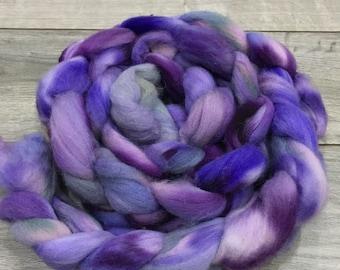 HANDDYED FIBRE (100% Polwarth)  - It Even Smells Purple