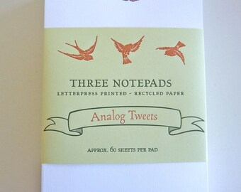Analog Tweets Notepad set