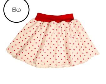 Ecological girls skirt for valentines day, baby skirt, girls skirt.