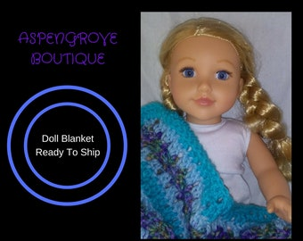 18 inch doll 14 inch doll doll accessories crochet doll ag blanket bedding ready to ship