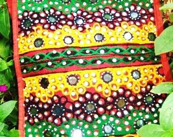 Traditional India....Mirror work Handbag Tote Bag