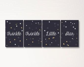 Twinkle Twinkle Little Star Baby Shower - Backdrop Posters