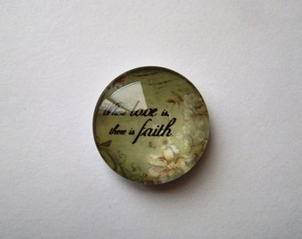 Where love is there is faith Needle Minder