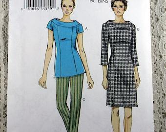 Vogue 8886, Misses' Top, Dress and Pants Sewing Pattern, Easy Dress Pattern, Easy Top Pattern, Easy Pants Pattern, Misses' 16 - 24, Uncut