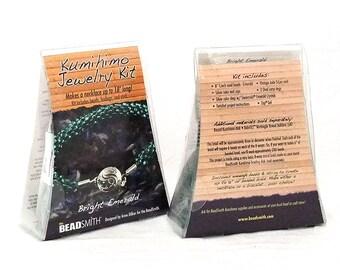 Kumihimo Jewelry Kit Bright Emarld