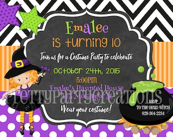 TWEEN WITCH invitation - YOU Print - 3 to choose