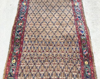 Beautiful Persian Camel Hamadan carpet - 5'5 x 10'0 - 166 x 310 cm. - Free shipping!