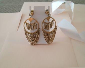Chain Earrings - Long Chain Earrings - Gold Chain Earrings - Dangle Earrings - Drop Earrings - Chain Hoop Earrings - Vintage Earrings