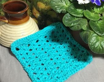 Blue cotton dish cloth