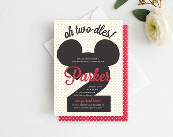 mickey mouse birthday invitation mickey mouse invite two dles mickey invitation