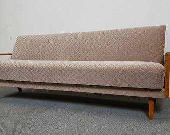 Charming Sofa DAYBED Sofa Bed Mid Century Danish Modern Teak Vintage Retro 60s