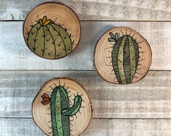 Cactus Magnets, Set of 3