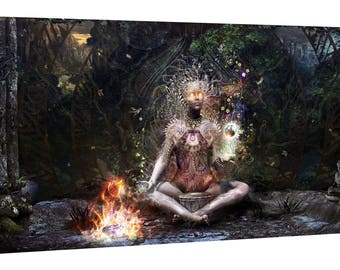 """Giclee Canvas Wall Art """"Sacrament For The Sacred Dreamers"""" by Cameron Gray"""
