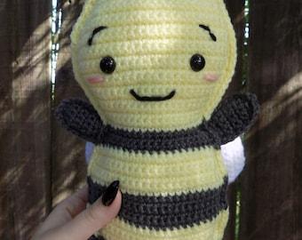 Bee | Crochet Bee | Stripes | Crochet Animal | Animal | Plush Bee | Plush Animal| Bumble Bee | Bee Plush | Bee Toy | Amigurumi