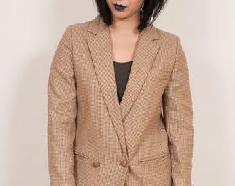 Vintage 1980's Brown Tweed Jacket 12  - www.brickvintage.com