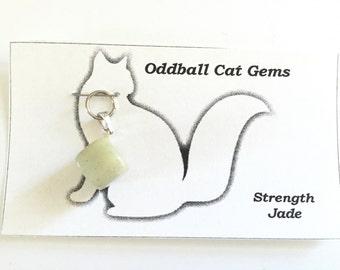 Healing Collar Charms, Jade Gemstones, Cat Collar Charms, Dog Collar Charms, Pet Stress Relief, Crystal Pet Charms, Collar Charms