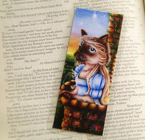 Juliet Shakespeare Siamese Cat Bookmark