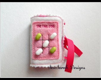 In The Hoop Tic Tac Toe Mint Freshener Holder - 5 x 7 Instant digital download