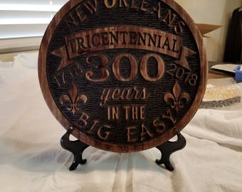 New Orleans 300 Year Celebration Wooden Plaque