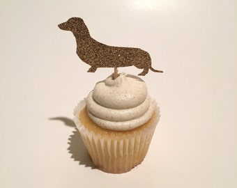Wiener Dog Cupcake Topper